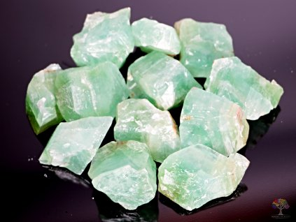 Kalcit smaragdový - zelený surový 3 - 5 cm - 500g - Mexiko