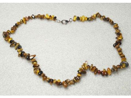 Náhrdelník Tygří oko tromlovaný #31 - z přírodních kamenů  + sleva 5% po registraci na většinu zboží + dárek k objednávce