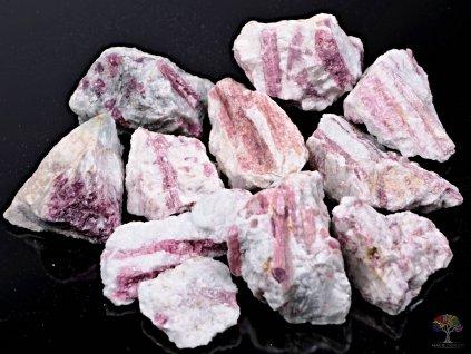Rubelit surový 3 - 7 cm - TOP kvalita 500g - růžový turmalín  + až 10% sleva po registraci