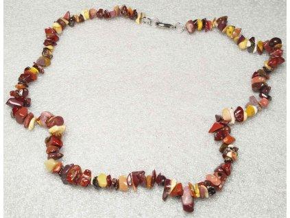 Náhrdelník Mokait tromlovaný #23 - z přírodních kamenů  + sleva 5% po registraci na většinu zboží + dárek k objednávce
