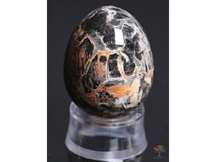Yoni kamenné vajíčko - Jaspis stříbrný #18