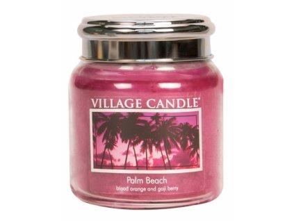 village candle vonna svicka ve skle palmova plaz palm beach 16oz