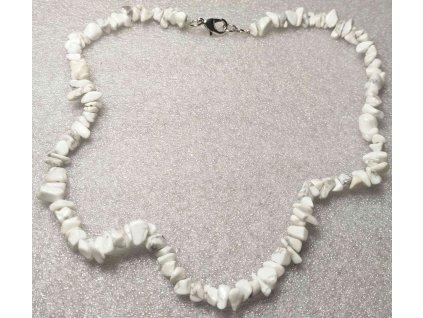 Náhrdelník Magnezit tromlovaný #19 - z přírodních kamenů  + sleva 5% po registraci na většinu zboží + dárek k objednávce