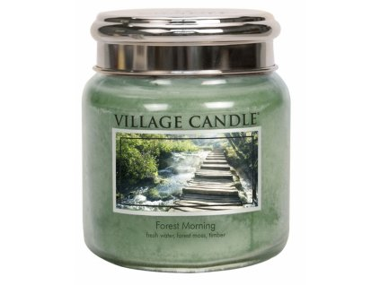 village candle vonna svicka ve skle lesni probuzeni forest morning 16oz
