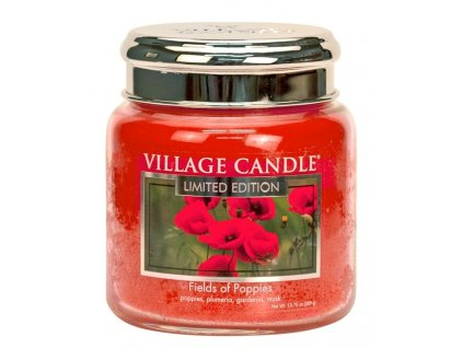 village candle vonna svicka ve skle fields of poppies 16oz
