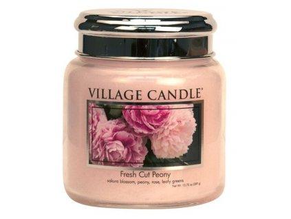 village candle vonna svicka ve skle pivonky fresh cut peony 16oz
