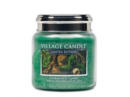 village candle vonna svicka ve skle kardamom a cypris cardamom cypress 16oz