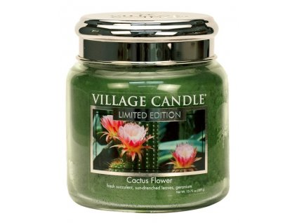 village candle vonna svicka ve skle cactus flower 16oz