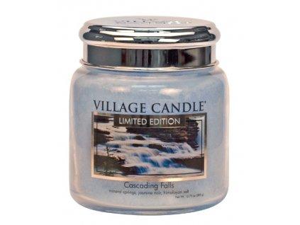 village candle vonna svicka ve skle cascading falls 16oz