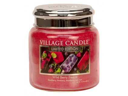 village candle vonna svicka ve skle wild berry freeze 16oz