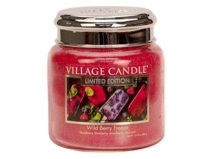village candle vonna svicka ve skle wild berry freeze 16oz
