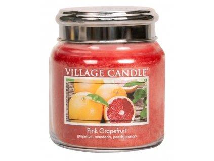 village candle vonna svicka ve skle ruzovy grapefruit pink grapefruit 16oz