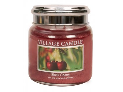 village candle vonna svicka ve skle cerna tresen black cherry 16oz
