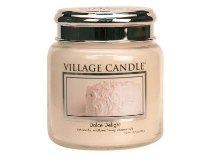 village candle vonna svicka ve skle sametove poteseni dolce delight 16oz