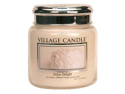 village candle vonna svicka ve skle sametove poteseni dolce delight 16oz