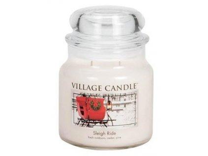 01 village candle vonna svicka ve skle zimni vyjizdka sleigh ride 16oz