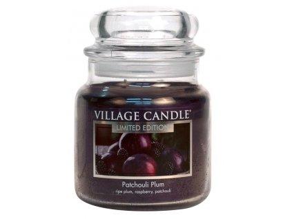 01 village candle vonna svicka ve skle svestka a paculi patchouli plum 16oz