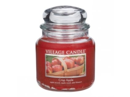 01 village candle vonna svicka ve skle svezi jablko crisp apple 16oz premium