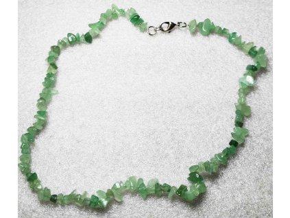Náhrdelník Avanturín tromlovaný #05 - z přírodních kamenů  + sleva 5% po registraci na většinu zboží + dárek k objednávce