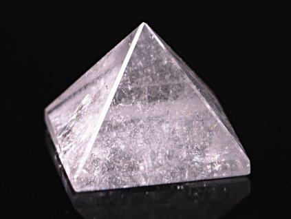 Křišťál pyramida 35 x 35 mm - TOP kvalita #19 - leštěná křišťálová pyramida