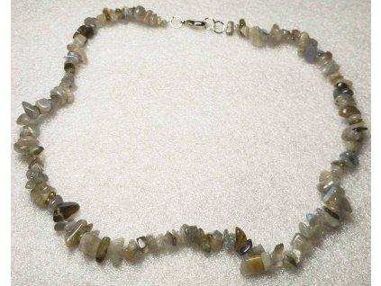Náhrdelník sekaný - Labradorit - tromlovaný - 38