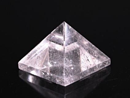 Křišťál pyramida 35 x 35 mm - TOP kvalita #22 - leštěná křišťálová pyramida