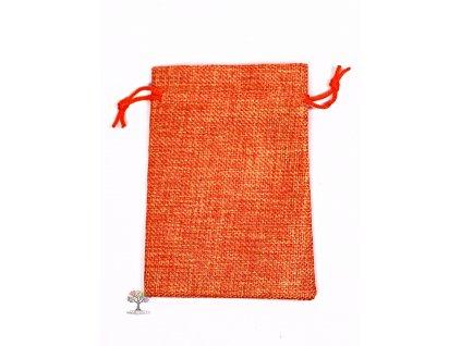 Dárková taška - Jutový pytlík oranžová 10x14 cm - 09  + sleva 5% po registraci na většinu zboží + dárek k objednávce