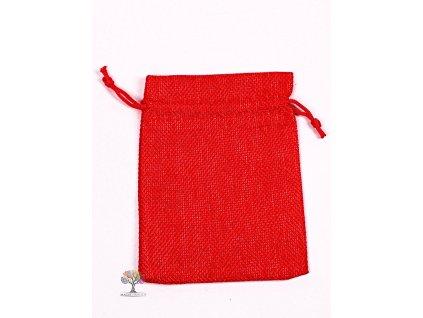Dárková taška - Jutový pytlík červená 10x14 cm - 11  + sleva 5% po registraci na většinu zboží + dárek k objednávce