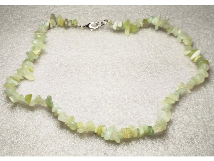Náhrdelník Serpentin tromlovaný #29 - z přírodních kamenů  + sleva 5% po registraci na většinu zboží + dárek k objednávce