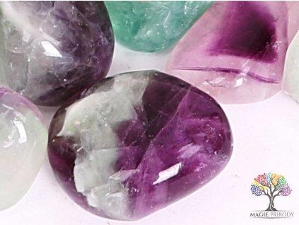 Tromlovaný kámen Fluorit L - kámen o velikosti 25 - 40 mm - 1 ks - Brazílie  + až 10% sleva po registraci
