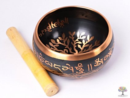 Tibetská miska - zpívající mísa 14 cm - 1030 g s paličkou #101