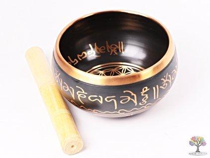 Tibetská miska - zpívající mísa 14 cm - 900 g s paličkou #103