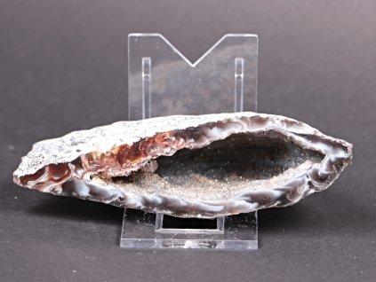 Achát peříčkový 11 cm - geoda - Top kvalita - #109  + až 10% sleva po registraci