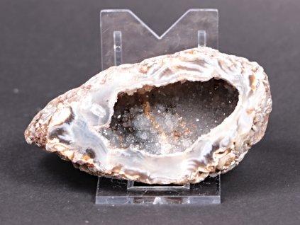 Achát peříčkový 9 cm - geoda - Top kvalita - #115  + až 10% sleva po registraci