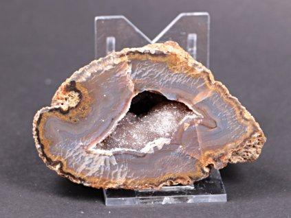 Achát peříčkový 8 cm - geoda - Top kvalita - #118  + až 10% sleva po registraci