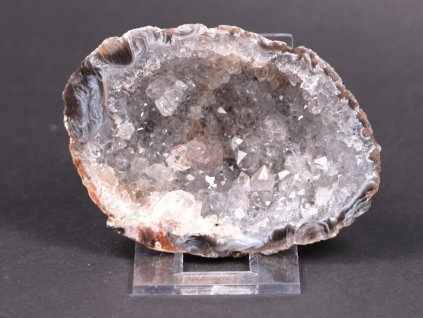Achát peříčkový 8 cm - geoda - Top kvalita - #131  + až 10% sleva po registraci