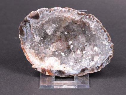 Achát peříčkový 8 cm - geoda - Top kvalita - #131