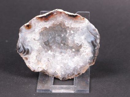 Achát peříčkový 7 cm - geoda - Top kvalita - #133