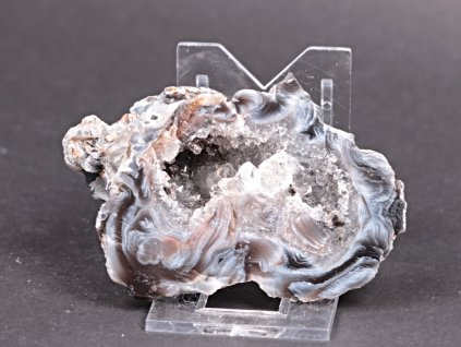 Achát peříčkový 8 cm - geoda - Top kvalita - #146