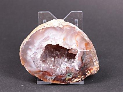 Achát peříčkový 7 cm - geoda - Top kvalita - #200  + až 10% sleva po registraci