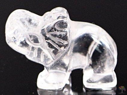 Slon Křišťál 30 x 20 mm - Slon z přírodního kamene #13  + sleva 5% na vše po registraci