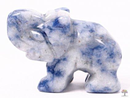 Slon Sodalit 30 x 20 mm - Slon z přírodního kamene #16  + až 10% sleva po registraci