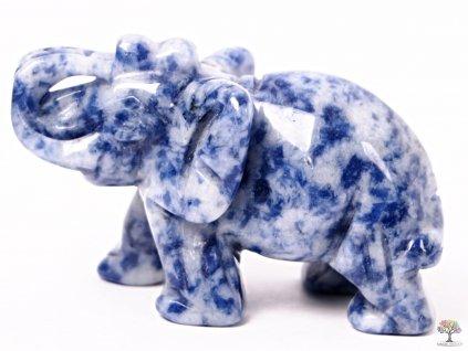 Slon Sodalit 50 x 35 mm - Slon z přírodního kamene #17  + sleva 5% po registraci na většinu zboží + dárek k objednávce