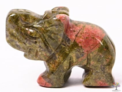 Slon Unakit 30 x 20 mm - Slon z přírodního kamene #22  + sleva 5% na vše po registraci
