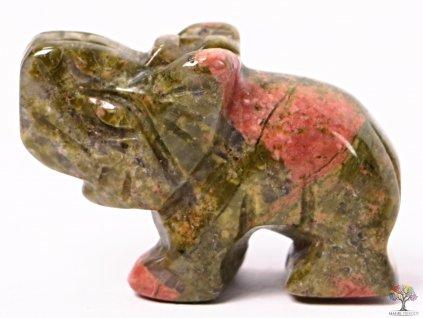 Slon Unakit 30 x 20 mm - Slon z přírodního kamene #22  + až 10% sleva po registraci