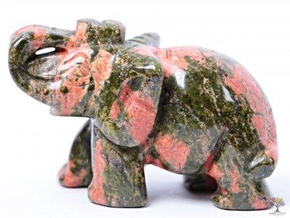Slon Unakit 50 x 35 mm - Slon z přírodního kamene #23  + sleva 5% po registraci na většinu zboží + dárek k objednávce