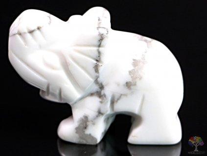 Slon Magnezit 30 x 20 mm - Slon z přírodního kamene #31