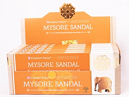 Vonné tyčinky Garden Fresh Premium Mysore Sandal - 12 ks - #52