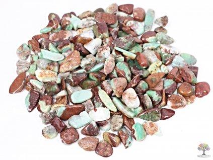 Tromlované kamínky Chryzopras M - kameny o velikosti 15 - 30 mm - 100g - Austrálie  + sleva 5% po registraci na většinu zboží + dárek k objednávce