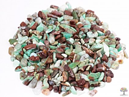 Tromlované kamínky Chryzopras S - kameny o velikosti 10 - 25 mm - 100g - Austrálie  + sleva 5% po registraci na většinu zboží + dárek k objednávce